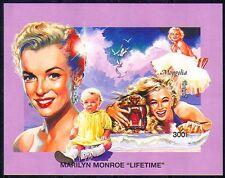 Mongolia 1995 Monroe/Films/People impf m/s s3124e