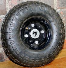 "4.10X3.50-4 2 Ply Tube Type Tire on 2 pc Split Rim 5/8"" Bearing"
