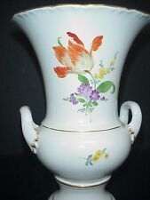 Meissen Vase Antique Hand Painted Flowers