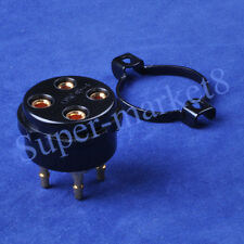 2pcs 4Pin 2A3 300B 274B CMC Bakelite Gold Tube Socket UX4