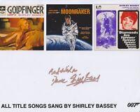 Shirley Bassey HAND SIGNED 8x10 Photo, Autograph, James Bond Goldfinger, 007 (Z)