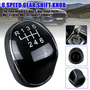 6 Speed Gear Stick Shift Knob Shifter For Ford Mondeo S-MAX C-MAX Transit Focus