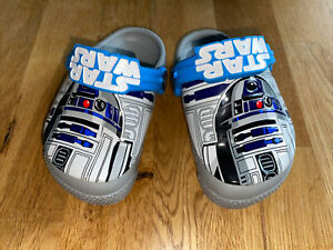 *super Süß* Blinkende Star Wars Crocs Hausschuhe Für Kinder Gr.5/20 *wie Neu!*
