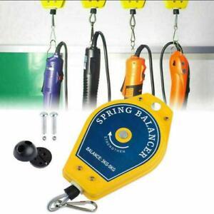 Einziehbar Federzug Balancer 3-5 kg Drahtseil Spring Fließband Werkzeug DHL