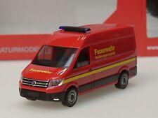 """Herpa VW Crafter Kasten Hochdach """"Feuerwehr"""" - 093477 - 1:87"""
