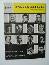 Vintage Opera Program New York City Opera - 1958 (Sills, Bernstein)