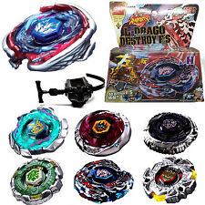 Beyblade Fusion Top Metal Fight Master 4D Rapidity Launcher Set Child Kids Toy