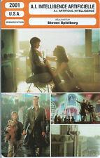 Movie Card Fiche Cinéma. A.I. Intelligence Artificielle (USA) 2001 S. Spielberg