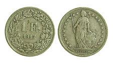 pci1845) Svizzera  Switzerland  Helvetia -  1 Franco  1913 Toned