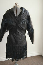 Leather Jacket Coat + Skirt Suit SIZE 38 LEATHER SKIRT 38 LEATHER SUIT 38