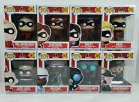 Funko POP! Disney Incredibles 2 Complete Set of 8 Vinyl Figures #363 - #370