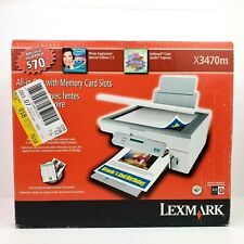 Lexmark X3470m All In One Memory Card Slot USB Inkjet Printer