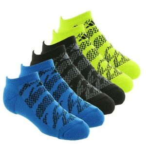 ADIDAS Climalite No Show Boys' Tiger Socks 6 Pack Youth Size (13C-4Y)
