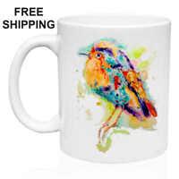 Little Bird, Art, Birthday, Christmas Gift, White Mug 11 oz, Coffee/Tea