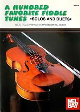A Hundred Favorite Fiddle Tunes- Solos And Duets by Bill Guest/ New!