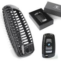 Carbon Fiber Key Case Cover For BMW 1/2/3/4/5/6/7 X1 X3 Series Key Fob Remote