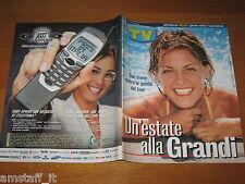 TV SORRISI CANZONI=2000/34=IRENE GRANDI=LAETITIA CASTA=CARLO FRUTTERO=BIGNARDI=