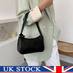 Women Retro Soft Pattern Baguette Bag PU Leather Armpit Bag French Shoulder Bag