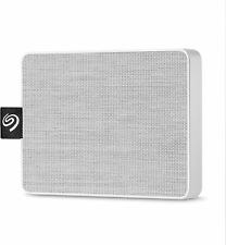 Seagate Micro SSD 500GB External USB 3.0 Portable Solid State Drive, White