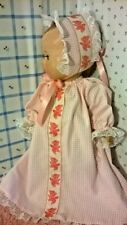 """SSO BABY DOLL CLOTHES PINK CHECK 4 pc NIGHTGOWN SET for 13 1/2"""" VNTG TINY TEARS"""