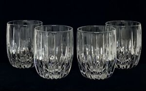 4 MIKASA Crystal PARK LANE Double Old Fashioned Rocks Glasses