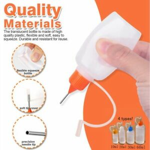 5 pc Empty Bottles Needle Precision Tip For Glue Quilling Scrapbooking Craft DIY