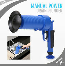Drain Cleaner High Pressure Compressed Air Blaster Pump Manual Plunger Sink Pipe