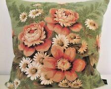 Sanderson Grosvenor Traditional Floral Linen & Velvet Cushion Cover