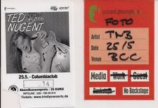 TED NUGENT Used Ticket & Photopass Berlin 25.05.2006