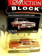 Greenlight AUCTION BLOCK Sealed Die Cast 1964 Plymouth Spot Fury Barrett Jackson