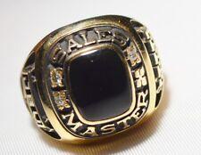 Case Sales Master Ring 10k Yellow Gold Onyx & Diamond Company Service Award HUGE