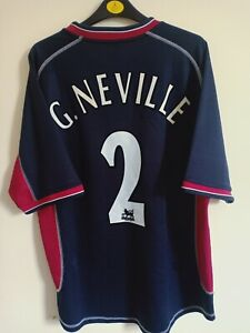 Manchester United Third Shirt 2000/01 Size L G. Neville AUTHENTIC UMBRO