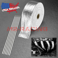 "Silver Exhaust Pipe Insulation Thermal Heat Wrap 2"" x 50' Motorcycle Header"