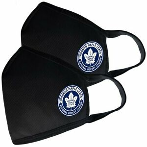 Toronto Maple Leafs NHL Team Logo Two Pack Face Covers with Filter