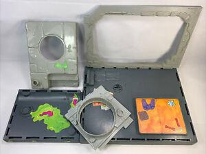 TMNT Teenage Mutant Ninja Turtles Vintage 1989 Sewer Playset Parts lot of 5 grey