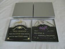 HANGING PLAQUES X 2 BOXED