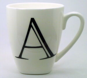 Alphabet Bone China Mugs ~ please choose your initial from the drop down list