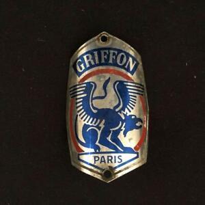 GRIFFON PARIS BICYCLE CYCLE FRAME HEAD TUBE BADGE EMBLEM TUBE DE TETE DE VELO