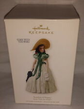 Porcelain Hallmark Ornament 2008 Scarlett O'Hara Gone with the Wind NEW Bent Box