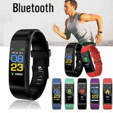 Pulseira Relógio Inteligente Batimento Cardíaco Monitor De Pressão Arterial Fitness Tracker ID 115 Plus