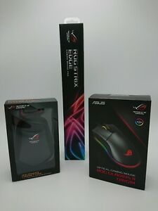 x4 PC Gaming Pack, ASUS ROG Gladius II Origin, Mouse pad, Gamepad, Mouse case