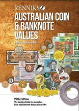 Renniks Australian Coin & Banknote Values 29th Edition soft cover 2019 post free