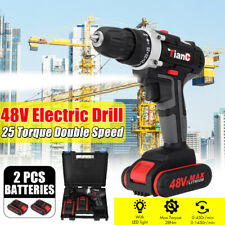 48V Electric Drill Rechargeable Cordless Drill Woodworking Power