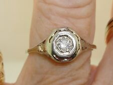 ANTIQUE ART NOUVEAU 14K GOLD FILIGREE APPROX. 15 PTW SPARKLING DIAMOND RING!