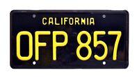 Herbie The Love Bug | 1963 VW Beetle | OFP 857 | STAMPED Prop License Plate