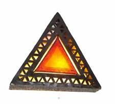 Cortina de lámpara de pared de Henna llano con triángulo perforado Hierro-Naranja-W35 H35 D15 Cm