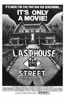 G4304 Last House On Dead End Street Movie VHS Vintage Laminated Poster FR
