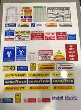 1/18 diorama garage safety signs  (sheet 0005)