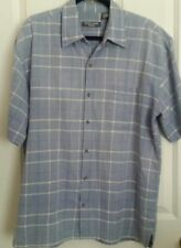 Taylor & Henry Men's Woven Casual Shirt Cotton Light Blue -  Large