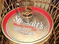 "New listing Vintage Metal Schmidt's Beer Serving Tray 13"" & Glass Beer/Ale Mug Philadelphia"